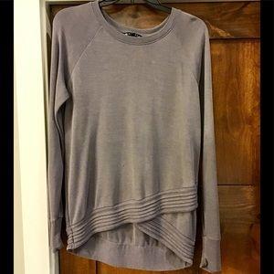 Athleta Gray/Silver sweatshirt.